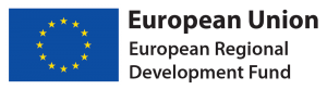 The logo of the European Regional Development Fund
